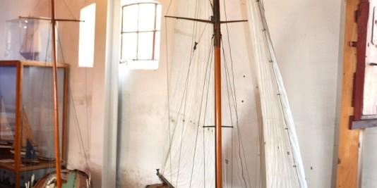 Schiffsmodelle im Danmarks Museum for Lystsejlads
